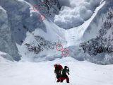Türk dağcı çığ anını görüntüledi