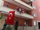 Ankara'da şehidin evine ateş düştü
