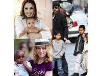İşte ünlülerin evlat edindiği çocuklar