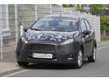 Ford Fiesta sedan facelift spied