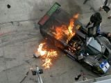 Ferrari P4/5 caught fire at Nurburgring 24 Hours