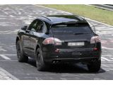 Porsche Macan spied in action