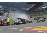 Big crash at 2012 Belgian grand prix - RESULTS
