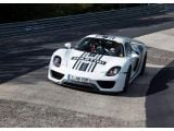 Walter Röhrl tests the Porsche 918 Spyder at the Nürburgring