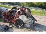 Terrifying Porsche GT2 RS crash at 160 mph