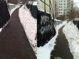 Moskova'da Photoshop'la kar temizliği