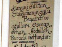 Hürrem Sultan'ın oğlu Şehzade Beyazıt'ın kabrine ziyaretçi akı