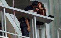 Ronaldo Irina'yı öyle bir öptü ki...