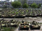 Tank mezarlığı ortaya çıktı Ukrayna Rusya