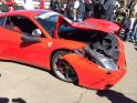 Ferrari 458 Speciale severely damaged at track day in South Africa - pho