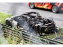 Acura NSX prototype bursts into flames at the Nürburgring - photos