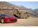 Ferrari FF downloaded from the CH-47 Chinook of the 1st Regiment of Anta