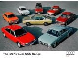 Audi 1971 range - 40 years Vorsprung Durch Technik