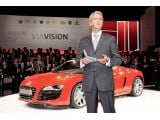 Audi CEO Rupert Stadler unveils the 2010 Audi R8 Spyder at the 2009 Fran