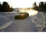 Ferrari FF tested by Markku Alen on a snow-covered forest stage