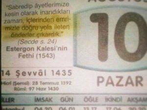 AKP'lilerin Paylaştığı Takvim Yaprağı
