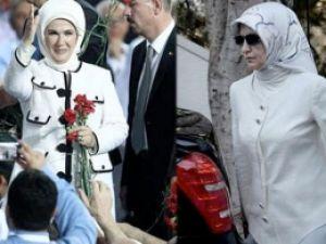 First ladyler Beyaz Kıyafeti Tercih Ettiler