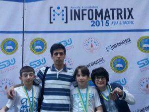 Bartın Fatih Koleji Bilgisayar Proje Olimpiyatında Üç Dünya Derecesi Elde Etti