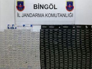 Bingölde 22 Bin Paket Kaçak Sigara Ele Geçirildi