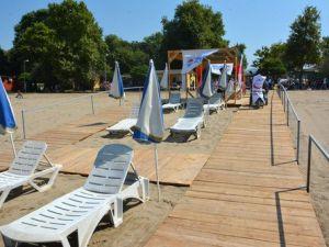 Engellilere Özel Plaj Hizmete Açıldı