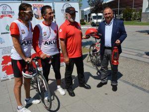 AKUT Bisikletçileri Yalovaya Ulaştı