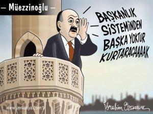 İbrahim Özdabak'tan Dikkat Çeken 'Müezzinoğlu' Karikatürü