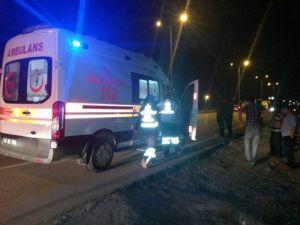 112 Acil Ekibi Kaza Yaptı: 1 Yaralı