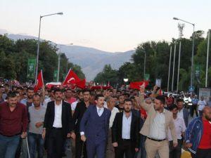 Erzincanda Teröre Tepki Yürüyüşü