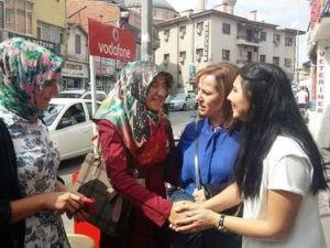 Aksarayda MHPnin Kadın Adaylarına Hemcinslerinden Yoğun İlgi