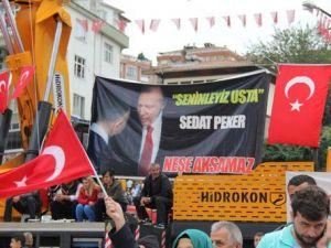 Sedat Pekerden Teröre Lanet Mitinginde Erdoğana Destek