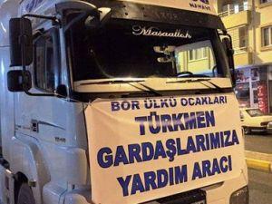 Bor Ülkü Ocaklarından Türkmenlere Yardım