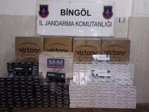 Bingölde 35 Bin Lira Değerinde Kaçak Sigara Ele Geçirildi