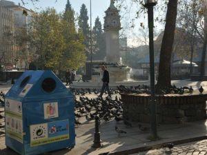 Çorluya 50 Adet Dış Mekan Geri Dönüşüm Kutusu
