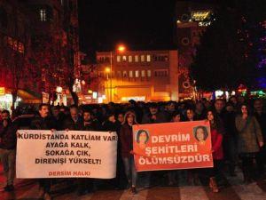Tuncelide Sokağa Çıkma Yasağı Protestosu
