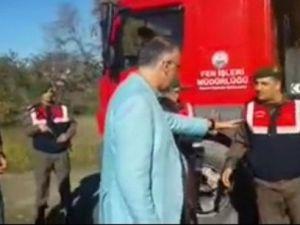 Belediye Aracı Aşırı Yükten Durduruldu; Başkan Komutanı Paralel Diye Suçladı
