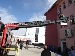 Karakoçan Devlet Hastanesinde Yangın Tatbikatı