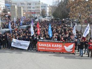 Tuncelide Protesto Yürüyüşü