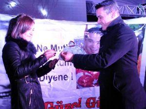 Edirne, Eksi 8 Derecede Yeni Yıla Merhaba Dedi