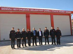 Çameli Belediyesinin İtfaiye Binası Tamamlandı