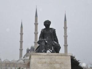 Edirneye Yılın İlk Karı Yağdı