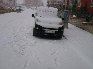 Edirnede Eğitime Bir Günlük Kar Tatili