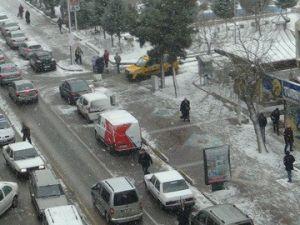 Nevşehirde Kar Yeniden Başladı