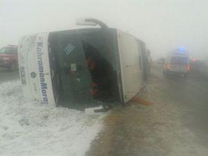 Kırşehirde 2 Otobüs Daha Devrildi: Yaralılar Var