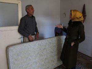 Çankırı Belediyesinden Mülteci Ailelere Ortopedik Yatak Yardımı