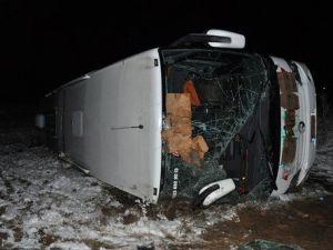 Elazığda Yolcu Otobüsü Devrildi: 26 Yaralı