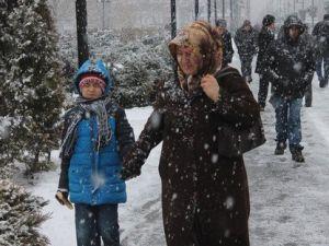 Sivasa 2 Gün Aranın Ardından Yeniden Kar Yağdı