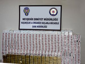 Nevşehirde Gümrük Kaçağı Sigara Ele Geçirildi
