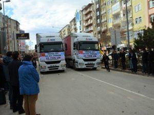 Bayırbucak Türkmenlerine Kırşehirden 2 Tır Gıda Yardımı