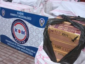 Elazığda 50 Bin Paket Kaçak Sigara Ele Geçirildi.