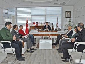 Yerel Gazete Yöneticilerinden Elazığ TSOya Teşekkür Ziyareti